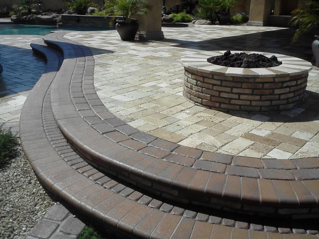 concrete paver and travertine paver sealing - Copy
